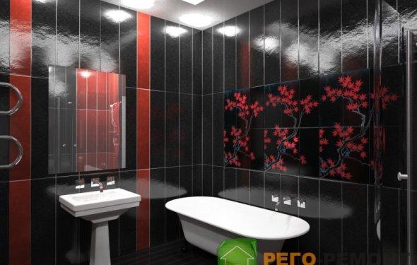 интерьера ванной комнаты