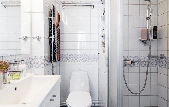 Интерьер маленькой ванной