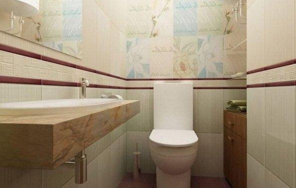 Интерьер туалета в пастельных